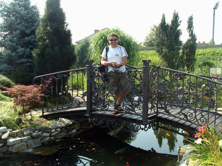 Na mostku w ogrodzie