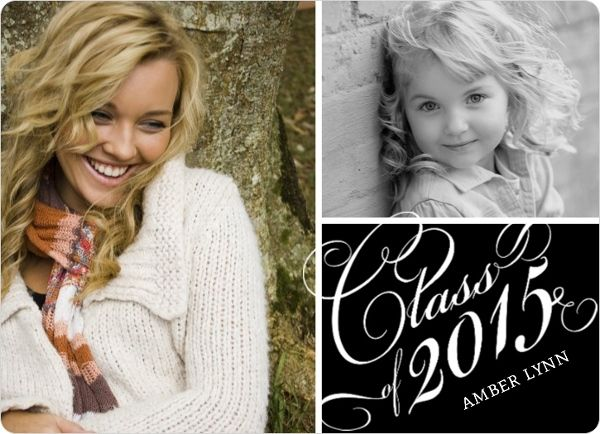Traditional Photo Graduation Announcement by InviteShop.com. #cheap #graduation #announcements #graduationannouncements