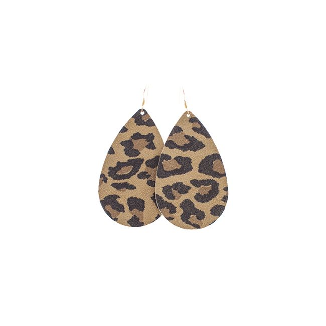 Leopard Leather Earrings Nickel and Suede. I am obsessed with these! Such a great statement earring.