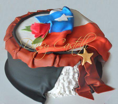 Chile - flag Cake and cueca - Daisy Castelli