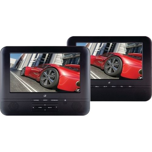 "GPX - 7"" TFT Portable DVD Player with Dual Screens - Black"
