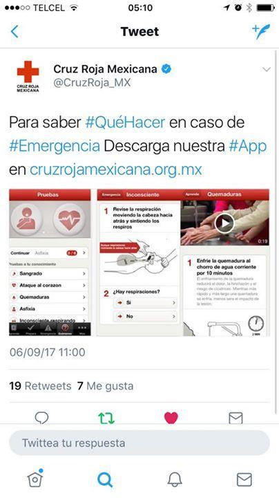 Cruz Roja Mexicana #CruzRoja #App