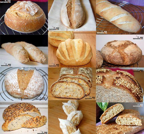 Doce recetas de pan