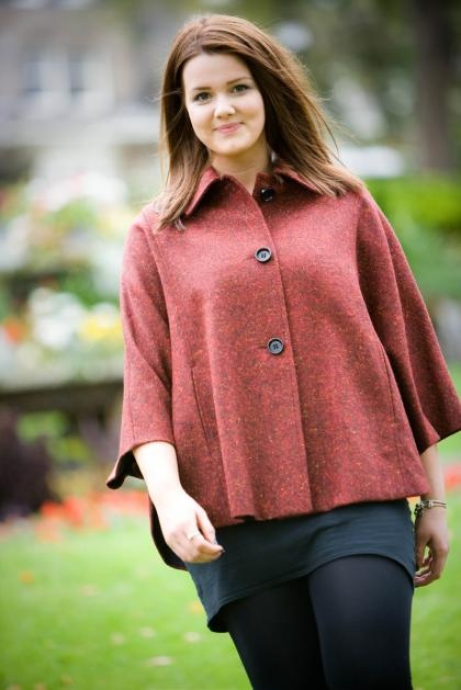 Connie Ladies Cape in Donegal Tweed - £200.00
