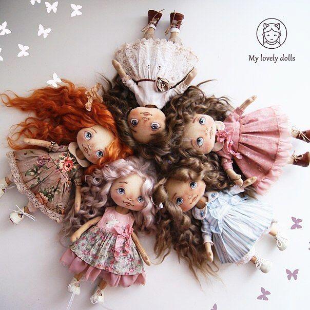 Вот и готовы куколки Но они уже отправились по домам Скоро будут новые девочки, а пока буду выкладывать фото каждой по отдельности