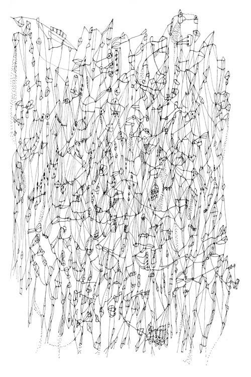 Star Chart -  line drawing art print from original drawing black and white art astrology drawing linear drawing ink drawing modern art