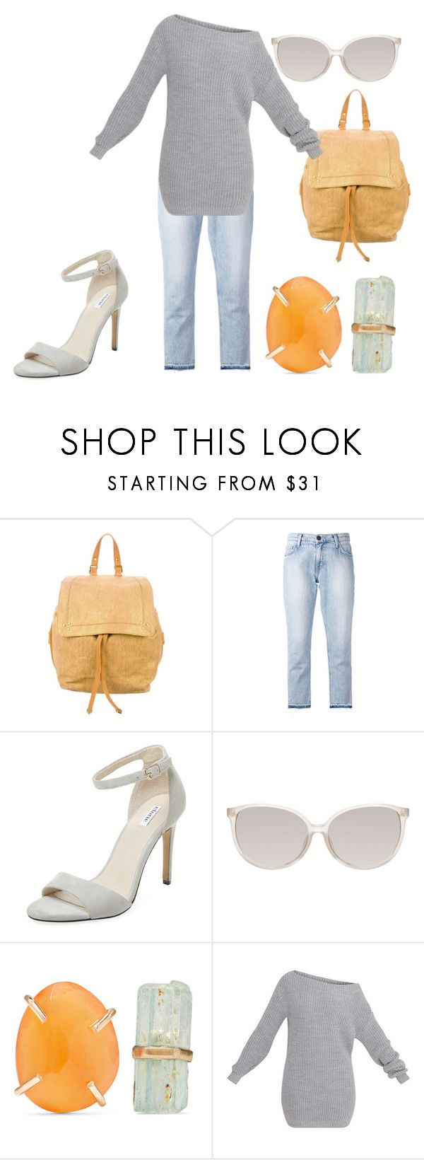 """""""Jeans 2"""" by catherinemairi on Polyvore featuring Jérôme Dreyfuss, Current/Elliott, Elorie, Linda Farrow and Melissa Joy Manning"""