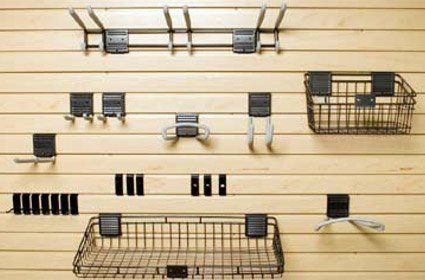 Garage Solutions Basic Accessory Kit for Handiwall Slat Wall System by Garage Solutions. $171.68. This Basic Accessory Kit by Garage Solutions provides plenty of storage options for all your garage equipment with an assortment of hooks and baskets that help to keep everything in its place. Lightweight and durable, the items in the accessory kit feature a non-slip protective coating and are compatible with the HandiWallTM Slat Wall System for easy mounting. Ships...