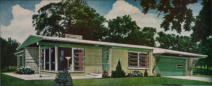 Love The Mid Century Ranch Atomic Ranch Pinterest