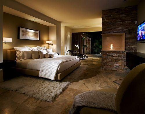 Luxurious master bedroom with incredible walk out