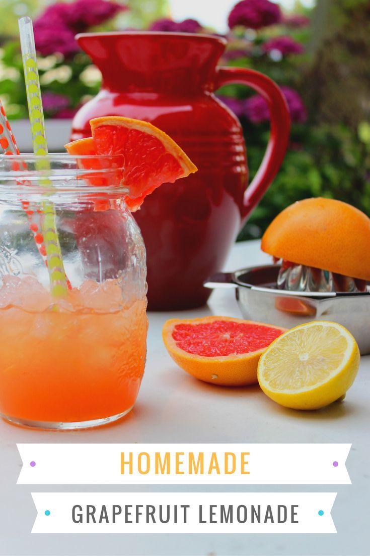 Eine kühle Limonade ist an heißen Sommertagen eine perfekte Erfrischung. Rezept für Grapefruit Limonade mit Minze