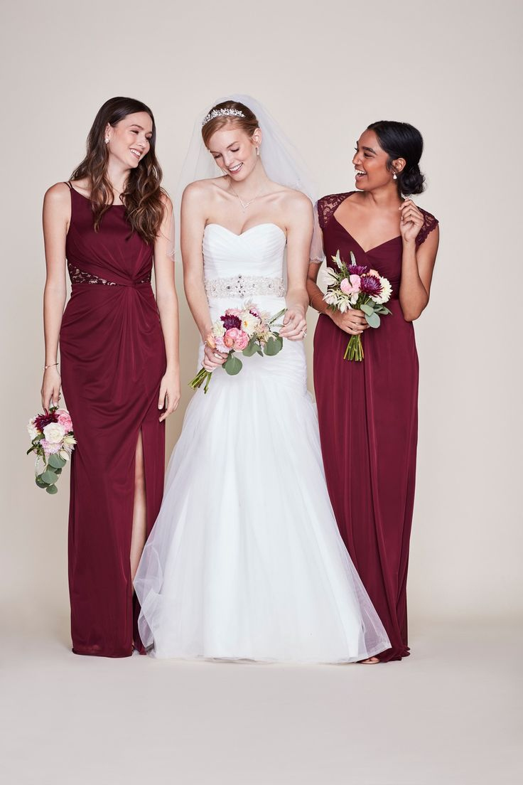 112 best burgundy wedding images on pinterest burgundy wedding find the perfect bridesmaid dresses at davids bridal our bridesmaid dresses include all styles colors such as purple gold red lace ombrellifo Image collections