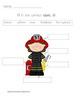 Kindergarten Fire Safety Theme Unit FREEBIES!