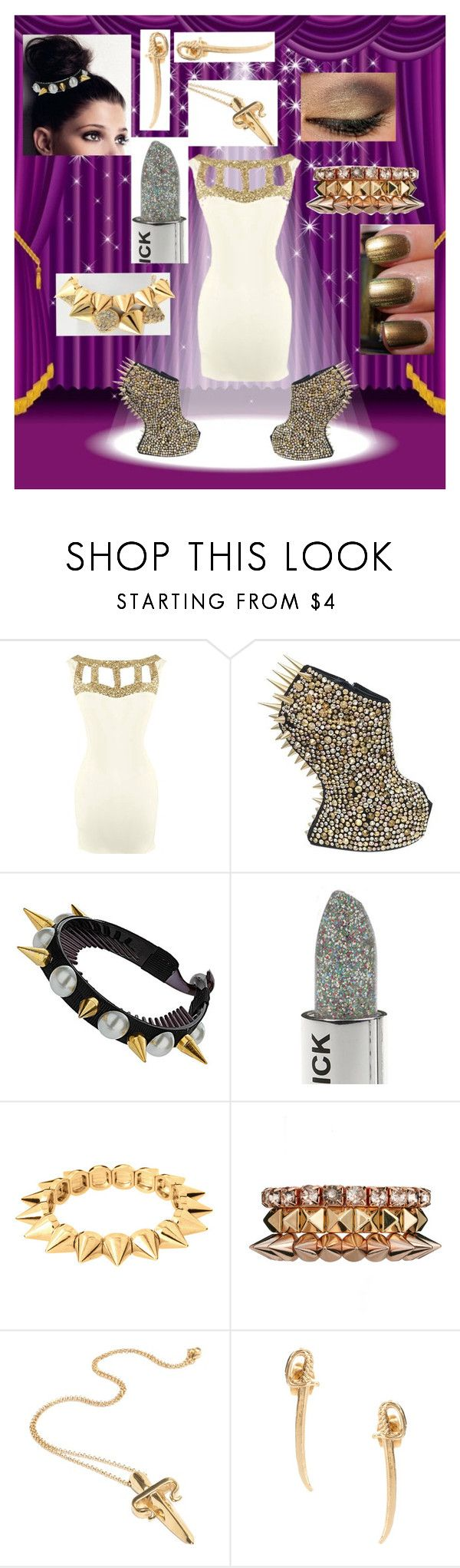 """amari interview dress"" by faleur102 ❤ liked on Polyvore featuring Giuseppe Zanotti, China Glaze, ASOS, LeiVanKash and Bing Bang"