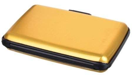 Tellsell Mini Multi Pockets RFID Aluminum Wallet Credit Cards Holder Case for Men Women