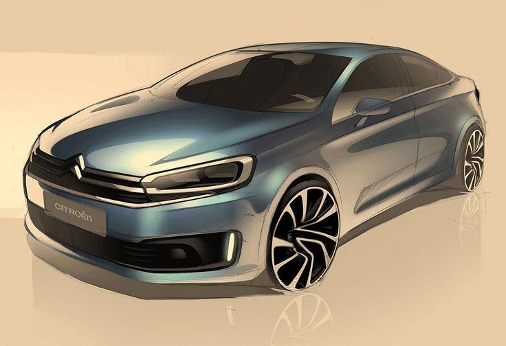 Citroën Previews China-Exclusive C-Quatre Sedan With Official Design Sketches