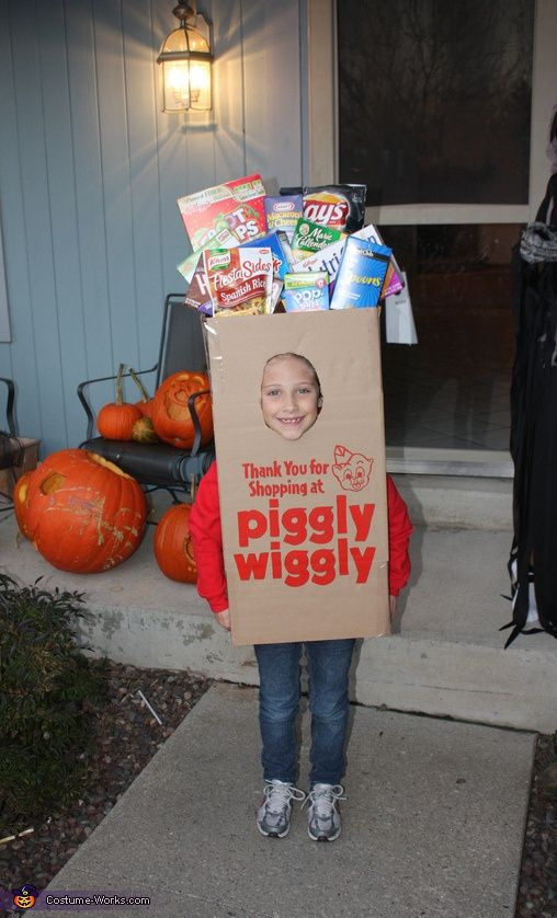 Piggly wiggly grocery bag halloween costume contest at for Creative halloween costumes for kids