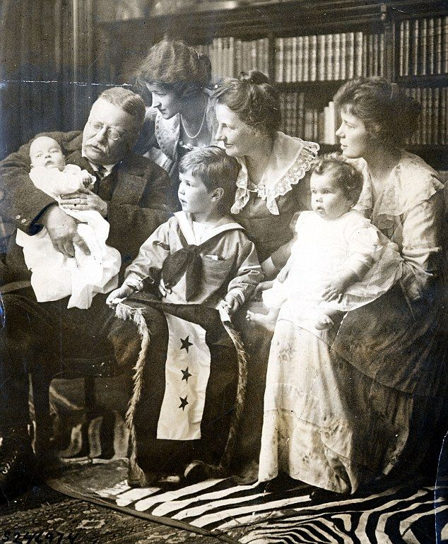 Theodore Roosevelt with some of his grandchildren.