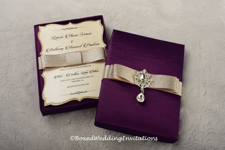 A personal favorite from my Etsy shop https://www.etsy.com/listing/249242239/couture-wedding-invitation-box