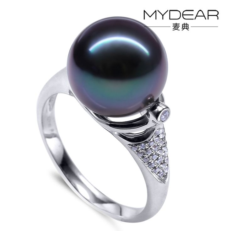 MYDEAR big cock ring with pearl stone ring designs for men tahitian black pearl rings