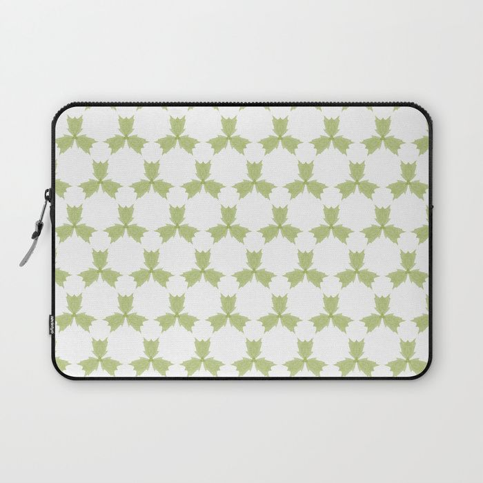 Protect your laptop with a unique Society6 Laptop Sleeve. Our form fitting, lightweight sleeves are created with high quality polyester - optimal for vibrant color absorption. The design is printed on both sides to fully showcase the artwork while keeping your gear protected. Pulling back the YKK zipper, you'll find the interior is fully lined with super soft, scratch resistant micro-fiber. three, leaves, green, pattern, group, white, gentle, digital, society6, gifts, shopping, buy, sell…