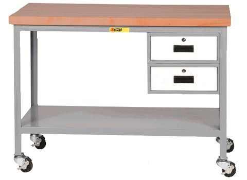 Maple Butcher Block Workbench with Drawers
