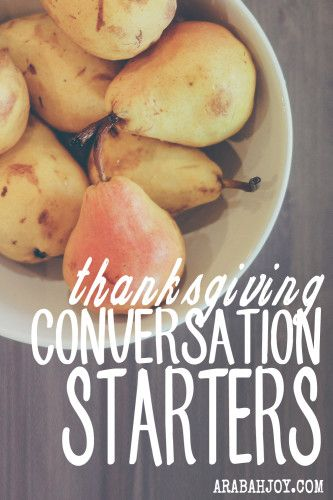 One of the things I've become more intentional about when having people in my home is conversation. It sounds basic, but in our high-tech, transient world, having rich, meaningful conversations that edify is not a guarantee. I created these conversation cards to ensure folks leave my home feeling nourished in both body and spirit. Feel free to use these Thanksgiving conversation starters to make your meal time un-forgettable for your guests.