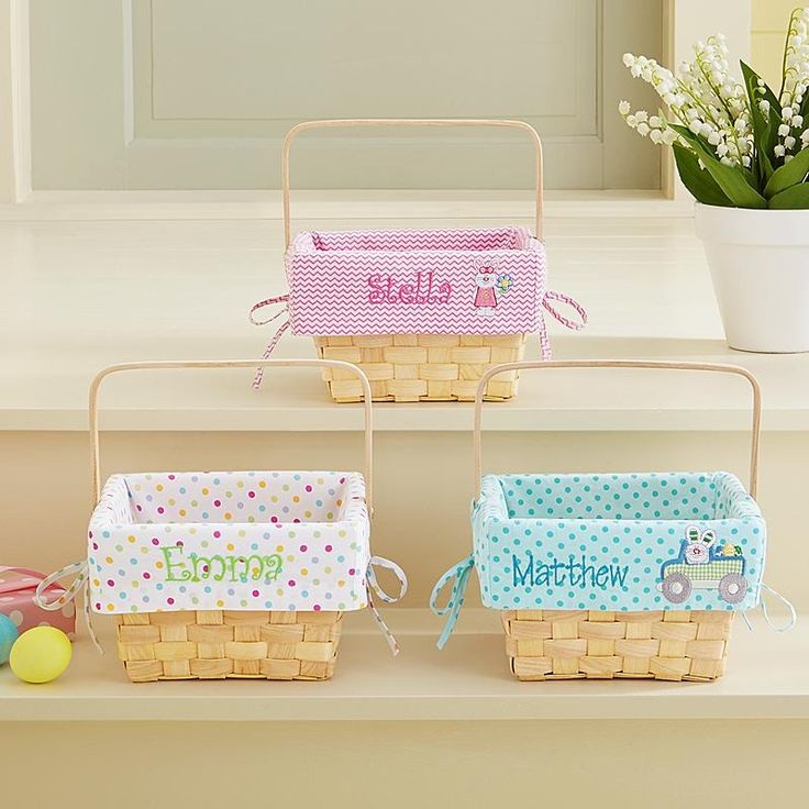 Make this an unforgettable Easter with baskets as special as they are! They'll hop for joy when they see their fancy, new Easter basket.