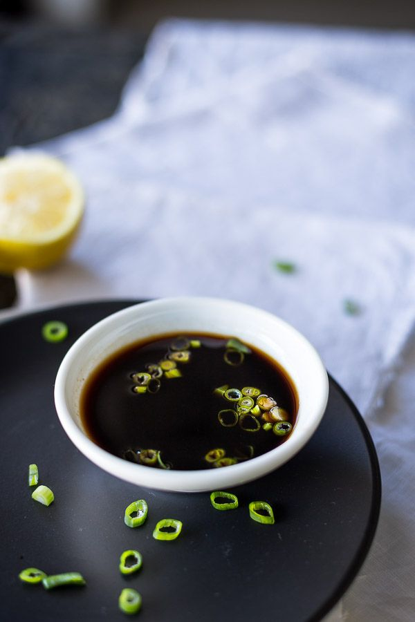 Fresh Japanese Ponzu Dressing and Dipping Sauce Recipe - When it comes to Japanese food, soy sauce is a must. But have you tried it with lemon and lime? Dip your dumplings in this simple recipe! | wandercooks.com