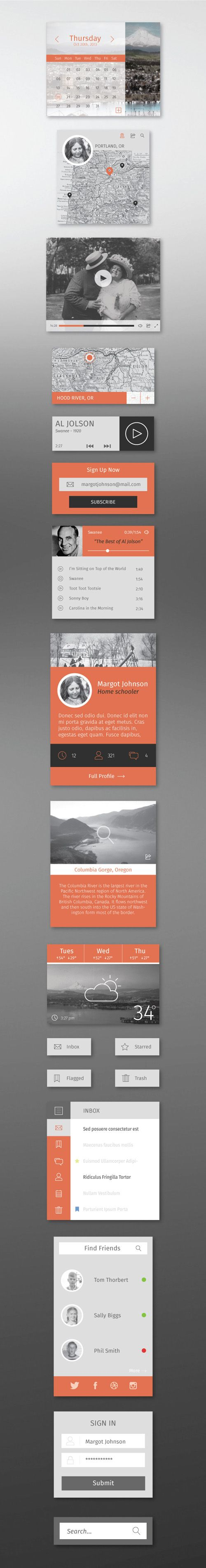 Winter UI Kit from: http://dribbble.com/shots/1287455-Flat-Winter-UI-Kit