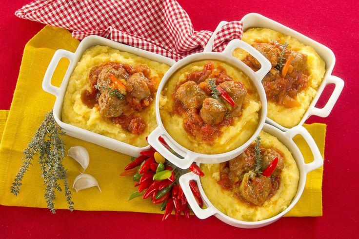 Tegamino di polenta con salsiccia alla diavola | Polenta Valsugana