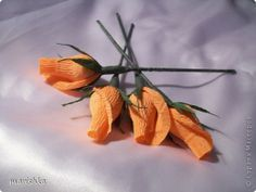 Мастер-класс Свит-дизайн Бумагопластика Мои бутончики роз МК Бумага гофрированная фото 18
