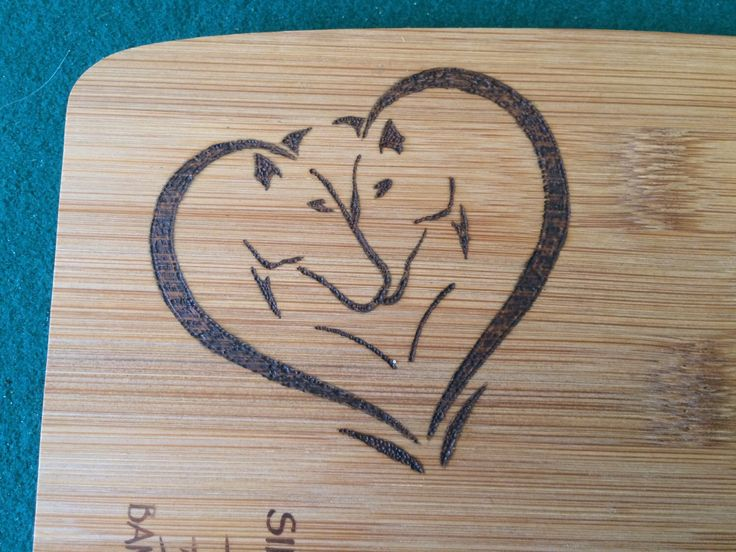 A personal favorite from my Etsy shop https://www.etsy.com/listing/242468671/horse-heart-cutting-board