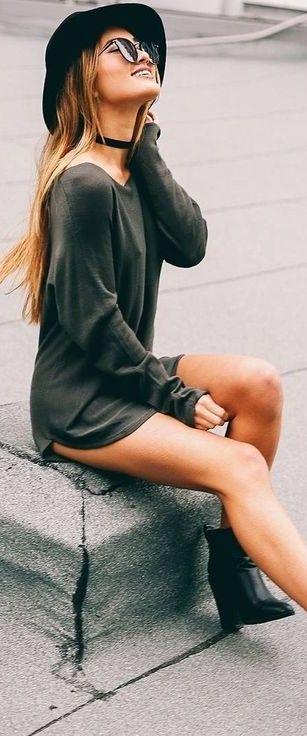 Khaki 'Lazy Girl' Top                                                                             Source