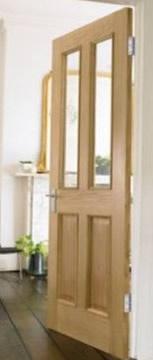 Standard Internal Oak Door for small - medium sized homes. Bespoke measurements or standard build possible.