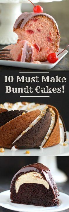10 Must Make Bundt Cake Recipes!