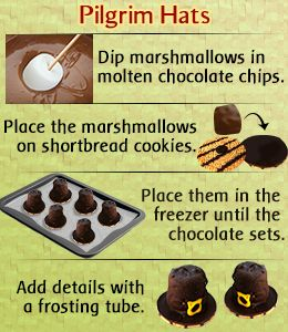 Thanksgiving dessert recipe for kids - Pilgrim hats