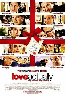 Love Actually is a 2003 Christmas-themed romantic comedy film written and directed by Richard Curtis. It features an ensemble cast, many of whom had worked with Curtis in previous film and television projects. The screenplay delves into different aspects of love as shown through ten separate stories involving a wide variety of individuals, many of whom are shown to be interlinked as their tales progress. Most of the film was filmed on location in London.