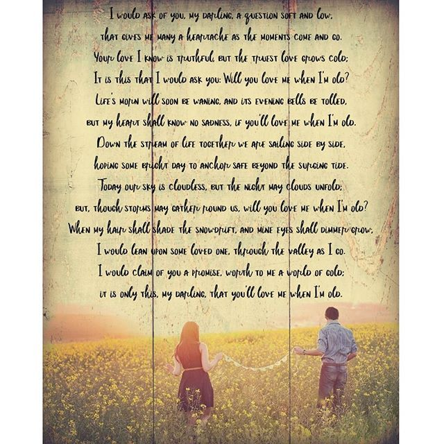 Welcome to Inspirational Tuesday!  With Valentine's Day being tomorrow, I thought I'd share this sweet old poem called, Will you love me when I'm old? Just a reminder, if you want to see a large copy of this, you can visit my blog.  #nettiesexpressions
