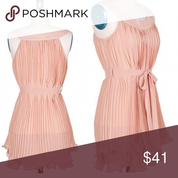 Timeless Blush Dress Gorgeous and Forever a staple. Blush, belted, ruffled layers with the feminine touch perfect for any occasion. Pleated & lined. Scoop neck with tank fit.   [Trindy Clozet Boutique Policies]  ✅ Next Business Day Shipping (possibly same day) ✅ Retail prices are firm unless bundled.  ✅ No trades.  Find more styles on our website@  Spreesy.com/trindyclozet  Insta trindy_clozet FB TrindyClozet Twitter trindyclozet Trindy Clozet Boutique Dresses Mini