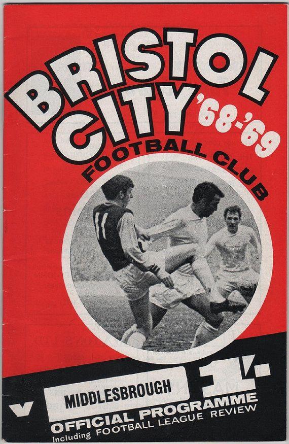 Vintage Football (soccer) Programme - Bristol City v Middlesborough, 1968/69 season, by DakotabooVintage