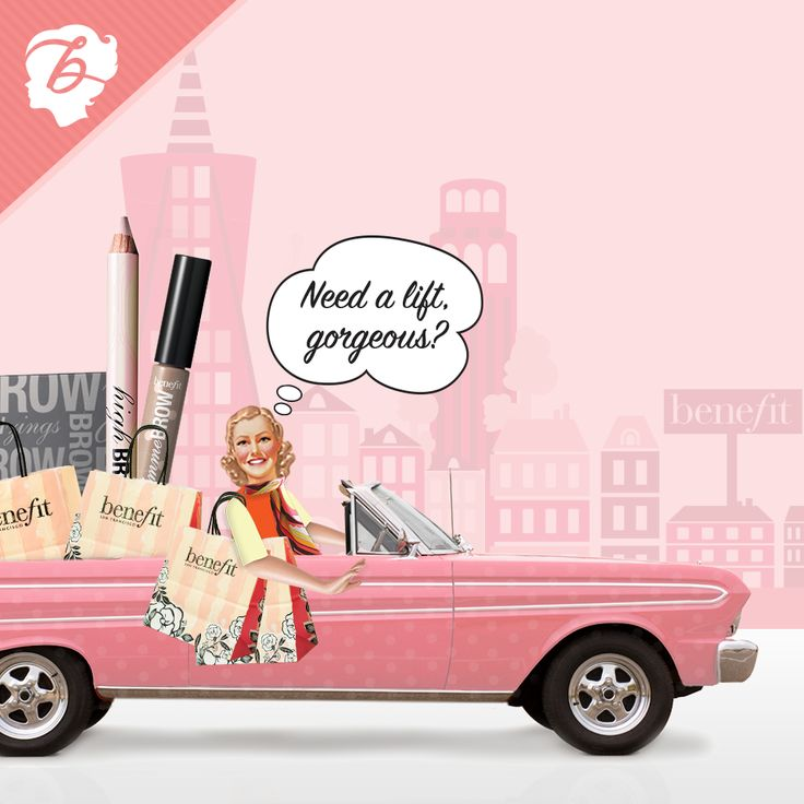 Hop on board the brow-mobile! #brows #benefitcosmetics