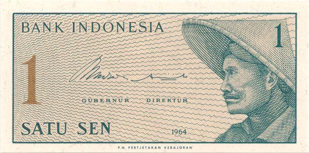 Motivseite: Geldschein-Asien-Indonesien-Rupiah-0.01-1964X