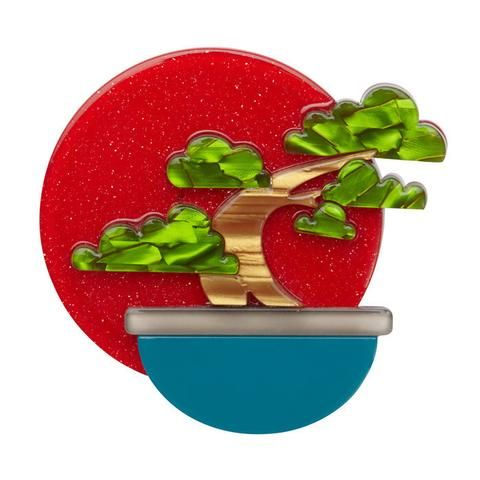 "Erstwilder Collectable Breathtaking Bonsai Brooch. ""No trace of the artist. Anonymity in nature. Restricted but free."""