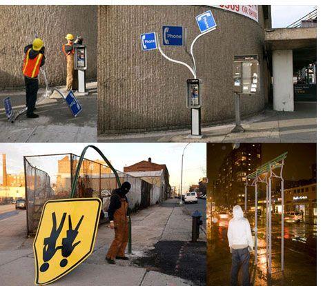 Brad Downey Bizarre Street Furniture Urban Art