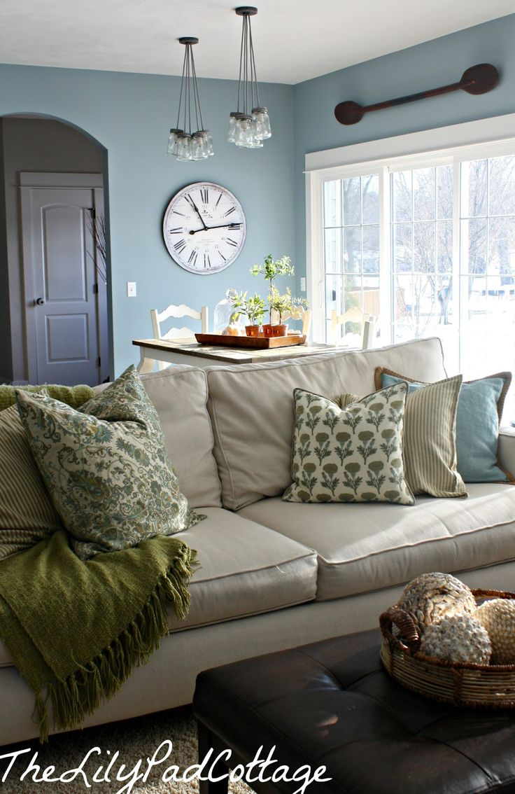 Style House January-The Lily Pad Cottage. these pillows and throw i want them