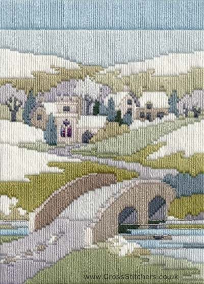 Winter Walk Long Stitch Kit from Derwentwater Designs from the range 'Seasons in Long Stitch' designed by Rose Swalwell.
