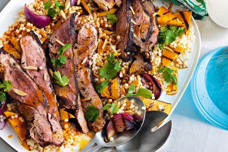 Butterflied lamb with pumpkin and couscous salad http://www.taste.com.au/recipes/31107/butterflied+lamb+with+pumpkin+and+couscous+salad