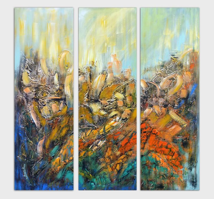 Buy Abstract triptych, Acrylic painting by Areti Ampi on Artfinder. Discover thousands of other original paintings, prints, sculptures and photography from independent artists.