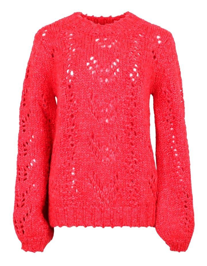 5c6b4eaeb51 Neo Noir Santiago Strik Rød | Strik, sweater, pullover, sueter, knit,  genser | Tøj, Strik og Boller